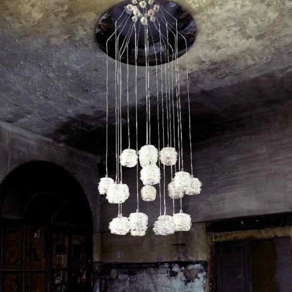 Lustra de interior Gomitolo Transparente