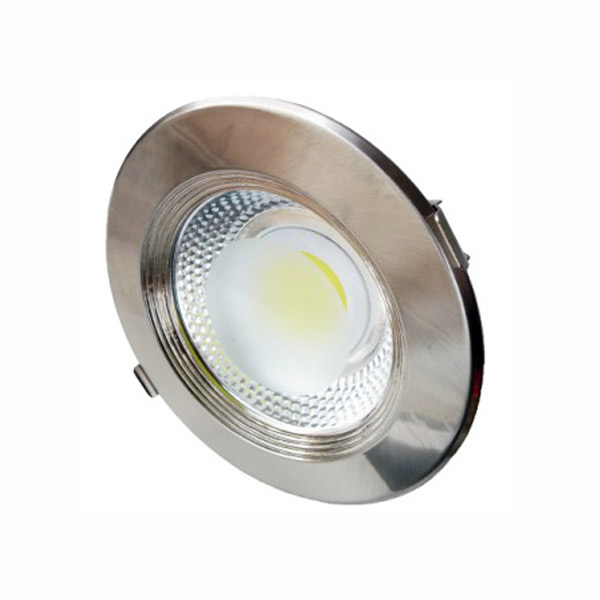 Spot inox LED COB 10W lumina calda