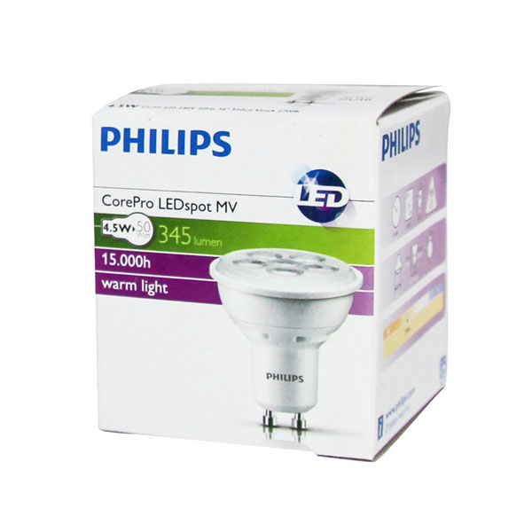 Bec Led Philips GU10 4.5W
