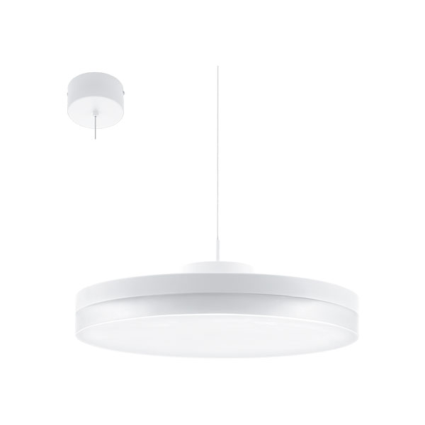 Lustra LED inteligenta alba Sortino S M