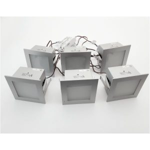Set 6 spot led Square Linea Verdace